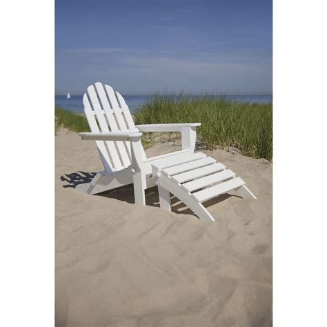 polywood classic white patio adirondack chair pws136 1 wh