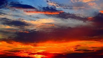 Sunset Sky Clouds Sunlight Bright 1080p Hdtv