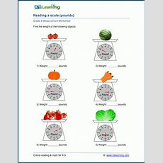 Weight Worksheets Reading And Using A Scale  K5 Learning