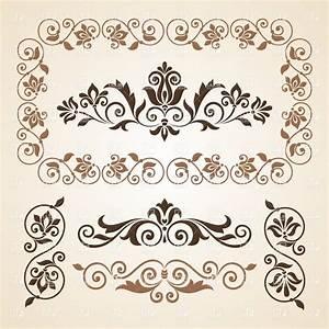 Set of vintage vignettes and design elements Royalty Free ...