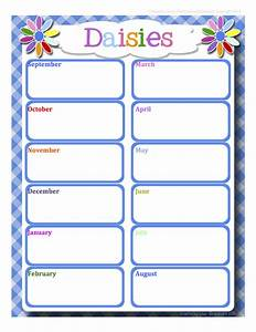 Fashionable moms girl scouts daisies calendar word for Girl scout calendar template