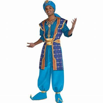 Genie Aladdin Costume Adult Action Parade Party