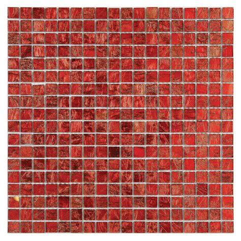 Solistone Micro Folia Glass Hawthorn Red 1134 In X 113