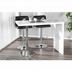 Table Salon Blanc Laqué : table de bar blanc laque maison design ~ Teatrodelosmanantiales.com Idées de Décoration