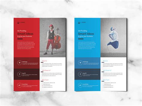 corporate flyer  indesign templates  designers