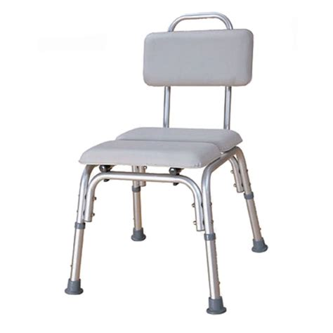 padded bath chair with water tight cushioned seat backrest