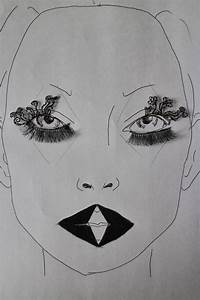 Millie Johns: Negative space 'paperself' Face chart