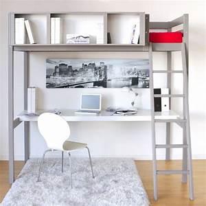 Lit Bébé Gain De Place : lit mezzanine gain de place avec bureau et rangement jurassien ~ Melissatoandfro.com Idées de Décoration