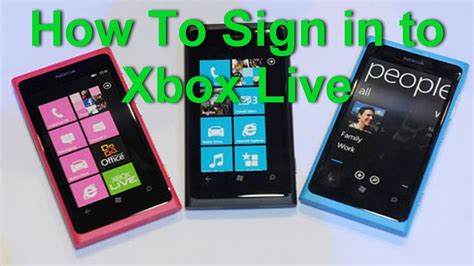 nokia lumia 800 to create account and sign in into xbox