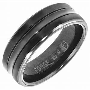 15 Best Ideas Of Black Titanium Wedding Bands For Men