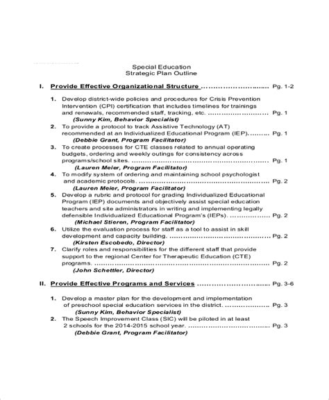 strategic plan template   word documents