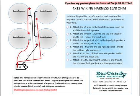 Marshall Cab Wiring Diagram