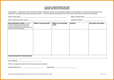 construction work order format 7 social work supervision template parts of resume