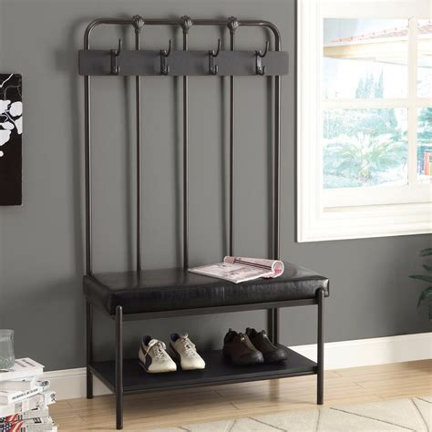 Entryway Benches With Storage And Coat Rack - tree storage bench entryway coat rack stand furniture