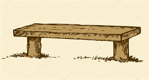 bench drawing  getdrawings