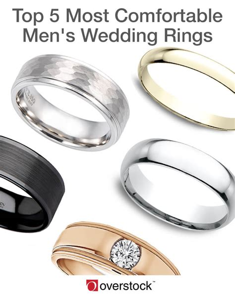 top 5 most comfortable s wedding rings overstock