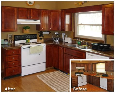 Kitchen Cabinet Refacing Before And After Ideas  Kitchen