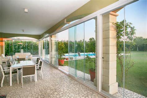 verande in pvc veranda chiusa con vetrate solco 2 5 con guarnizioni in