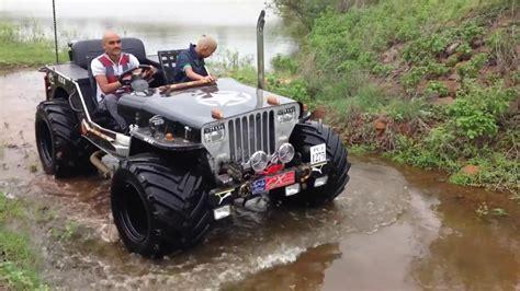 punjabi open jeep punjabi willys jeep big tyre in pune720p youtube