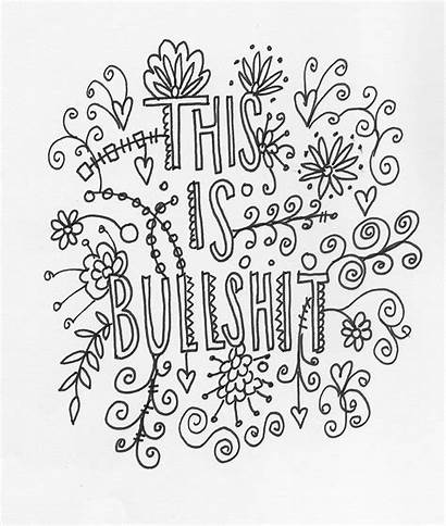 Coloring Pages Adult Quote Printable Adults Sheets