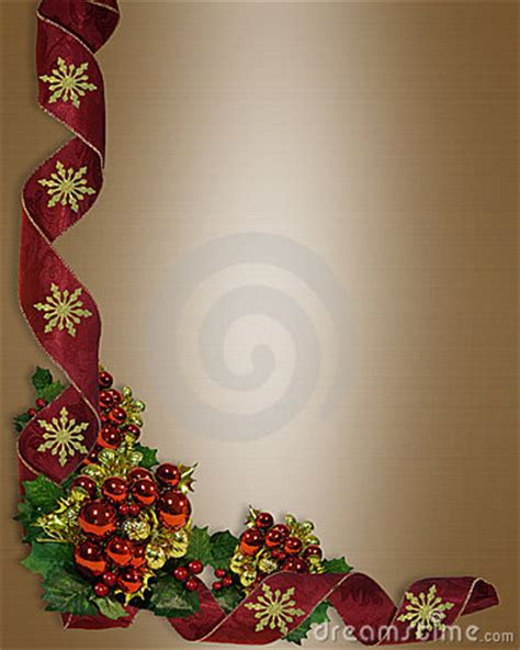 christmas border elegant ribbons royalty  stock