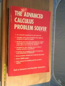 Vintage  Rea  U0026 39 Advanced Calculus U0026 39  Problem Solver Study