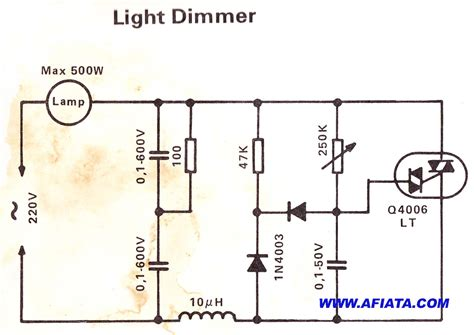 Simple Light Dimmer Circuit Electronic Diagram
