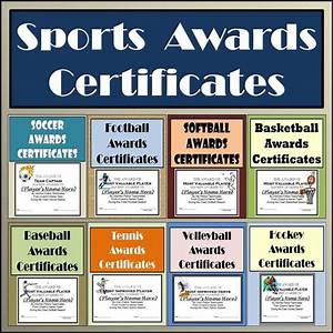 These sports awards certificates are set up in microsoft powerpoint so that all you have to do for Athletic award ideas