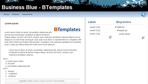 Templates 3 Columns Hola by Business Blue Template Btemplates