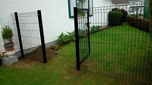 Cloture Chien Jardin : portail en grillage rigide cloture en bois pas cher chromeleon ~ Melissatoandfro.com Idées de Décoration