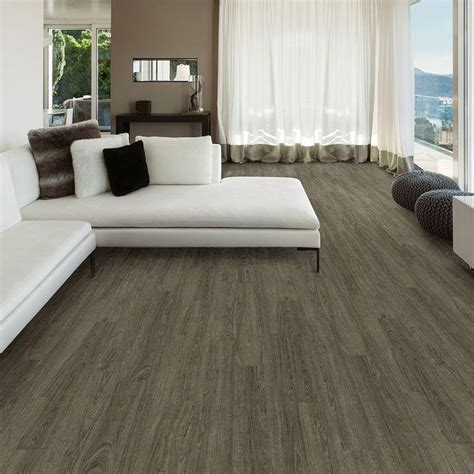 TrafficMASTER Allure 6 in. x 36 in. Metal Gray Oak Luxury