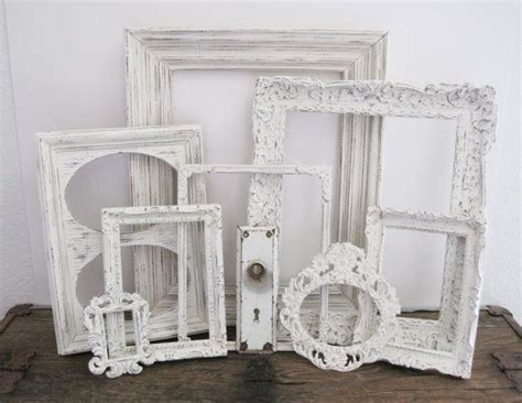 shabby chic wall picture frames white picture frame set of 8 shabby chic wall decor