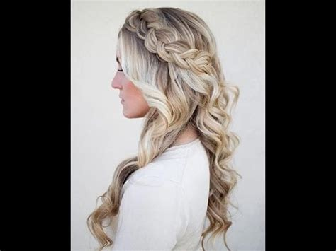 Braided And Curled Hairstyles by Hairstyle Tutorial Braid With Curls