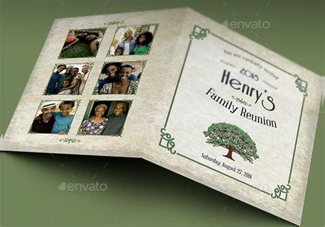 sample family reunion invitation templates  psd