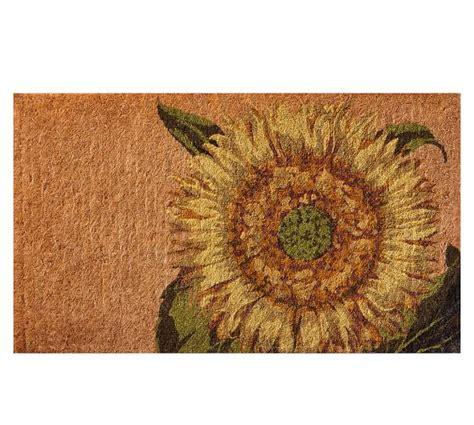 Sunflower Doormat by Sunflower Doormat Pottery Barn