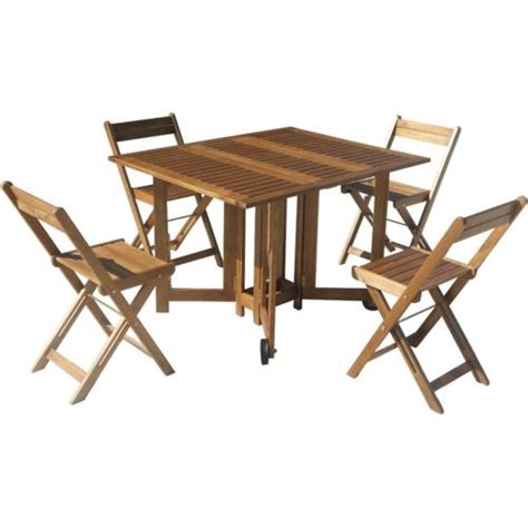 location de table et chaise carrefour set de jardin 1 table 4 chaises acacia 4