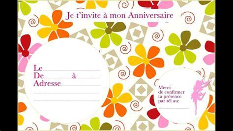 Carte Invitation Anniversaire Gratuites à Imprimer