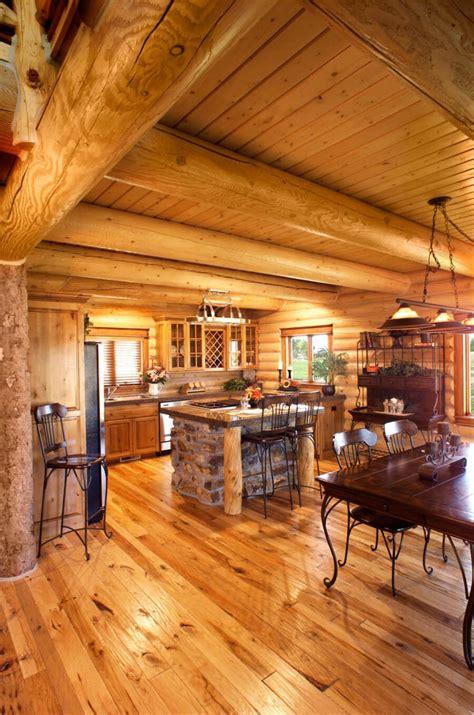 Homes Interiors by Log Home Interiors Yellowstone Log Homes
