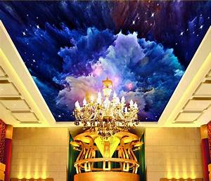 Custom wallpaper 3D,watercolor sky murals for the dining ...