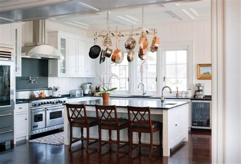 kitchen island hanging pot racks how to choose the right rack for hanging pots and pans 8181
