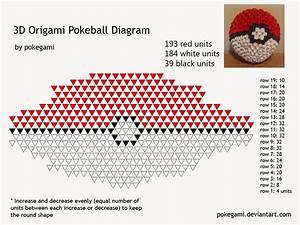 3d Origami Pokeball Diagram By Pokegami Deviantart Com On