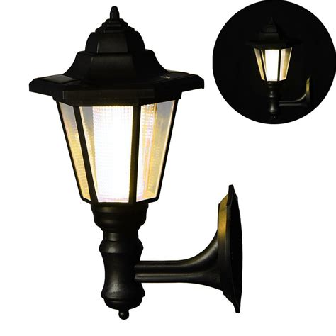 ruist solar powered led wall mounted light sconce outdoor