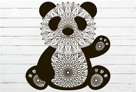 All contents are released under creative commons cc0. Panda svg \ zentangle panda svg \ animal svg \ mandala svg ...