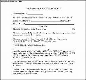 33 personal surety template personal guarantee form for a With personal surety template