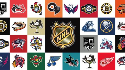 Nhl -- National Hockey League Team Logos As Redesigned By