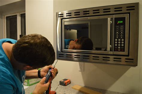 hang microwave without cabinet above customizing and hanging the microwave cabinet loving here