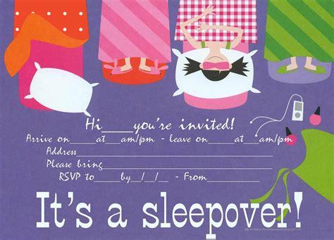 Birthday Party Invitations Free Printable Sleepover