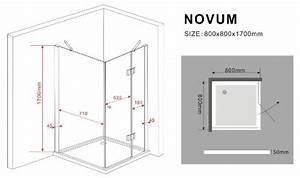 Duschkabine 175 Cm Hoch : duschkabine novum 80 x 80 x 175 cm inkl duschtasse ~ Michelbontemps.com Haus und Dekorationen