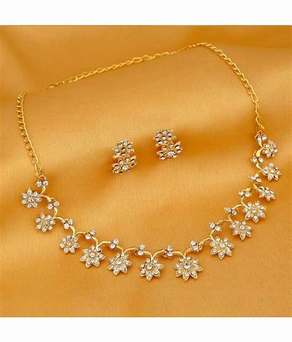Necklace Gold Plated Stylish Jewellery Sukkhi Artificial