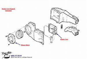 1968 Corvette Heater Assembly Parts